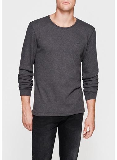 Mavi Basic Sweatshirt Gri
